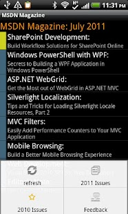 MSDN Magazine Reader 4 Android
