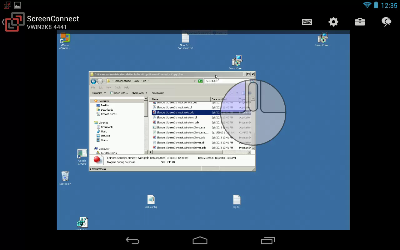 ScreenConnect Samsung Legacy- screenshot