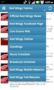 Detroit Red Wings Fan App- screenshot thumbnail