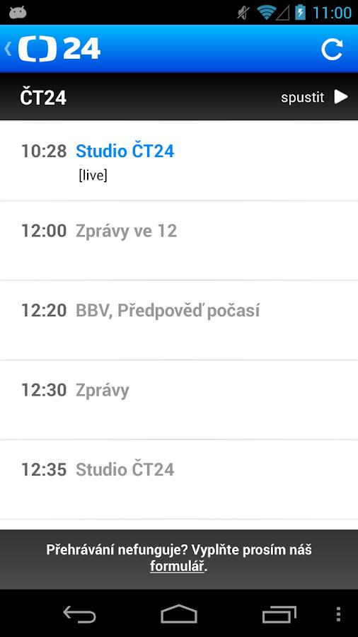 ČT 24- screenshot