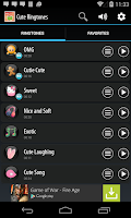 Screenshot of Cute Ringtones