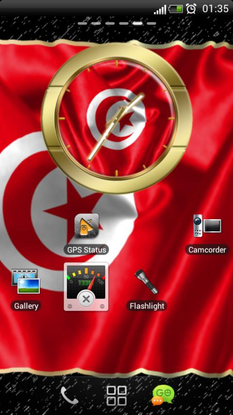 Tunisia flag clocks - screenshot
