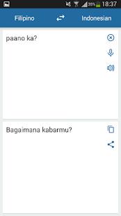 Indonesian Filipino Translator - náhled