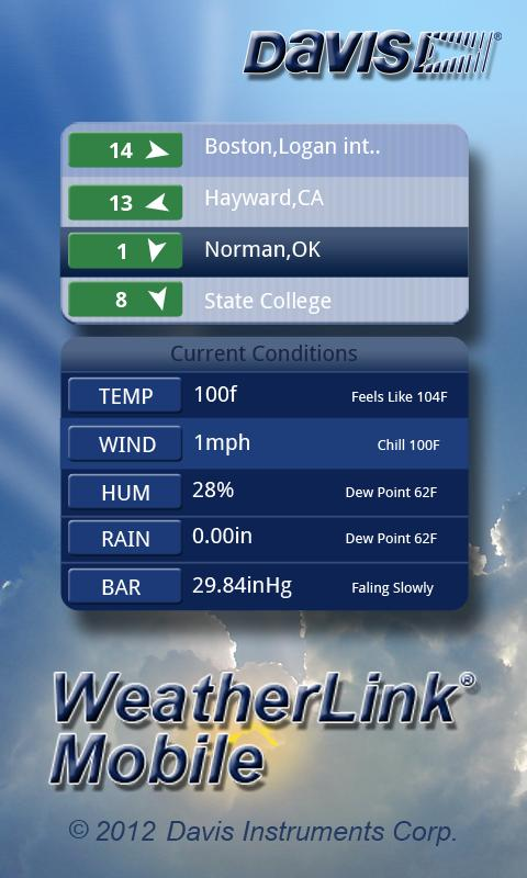 WeatherLink Mobile - screenshot