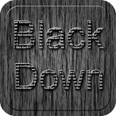 Black Down Go Launcher Theme