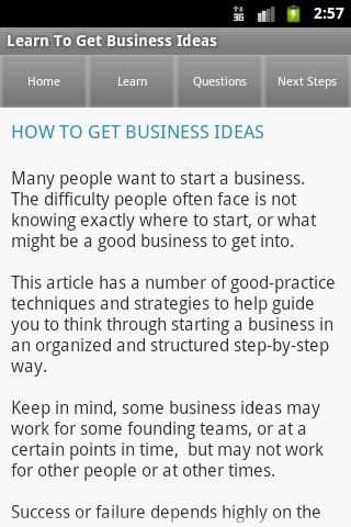 Startup & Business Ideas- screenshot