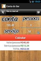 Screenshot of Conta do Bar