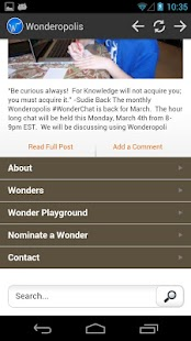 Wonderopolis- screenshot thumbnail