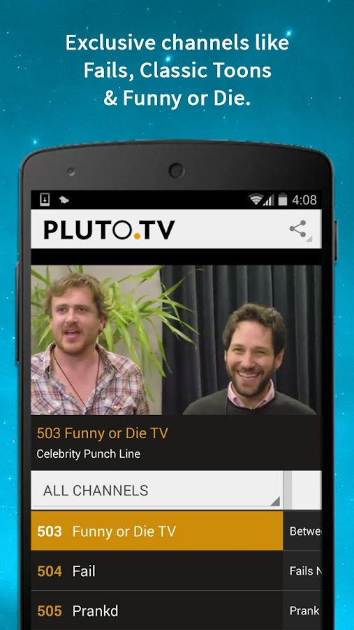 Pluto TV: TV for the Internet - screenshot