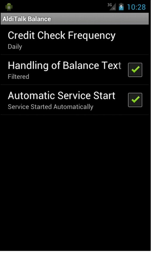 AldiTalk Balance - screenshot