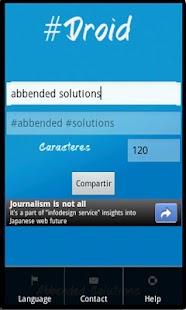Hashtag Droid - screenshot thumbnail