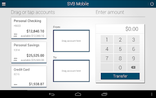 Screenshot of SVB Private Bank Mobile