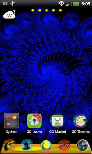玩個人化App ランチャーEXのテーマは、フラクタルをGO免費 APP試玩