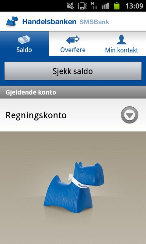 Handelsbanken SMSBank - screenshot