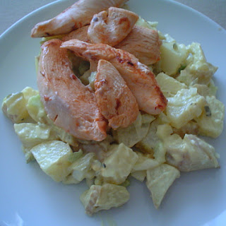 Marinated Chicken with Potato Salad.