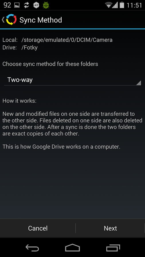 Autosync for Google Drive- screenshot