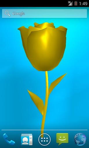 Golden Rose live wallpaper