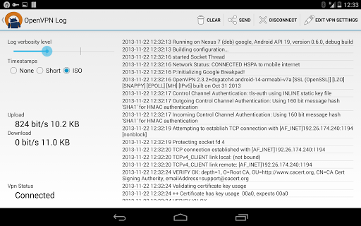 OpenVPN for Android 0.7.5 screenshots 12