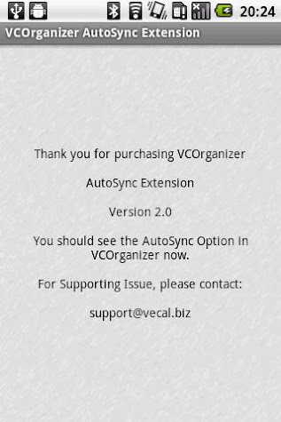 VCO AutoSync Screenshot