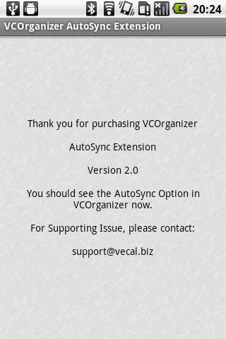 VCO AutoSync - screenshot