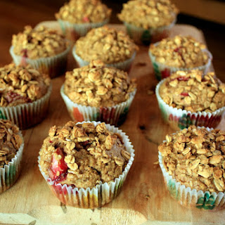 Strawberry Granola Muffins.