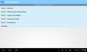 Screenshot of IMO Collision Regulations