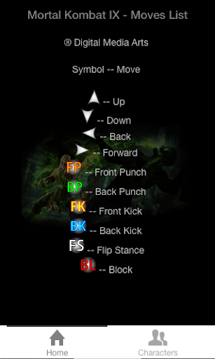 MK 9 Moves List