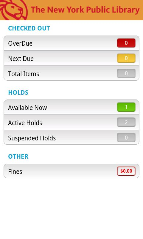NYPL Mobile - screenshot