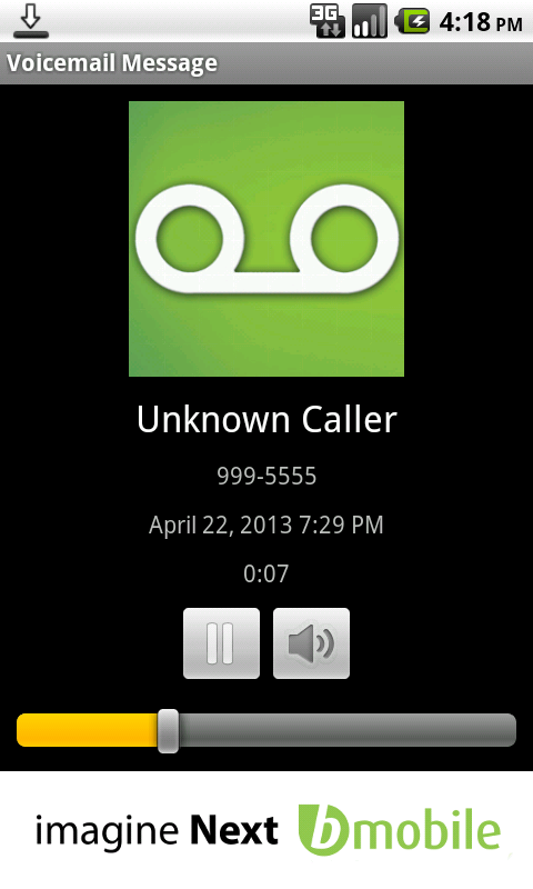 bmobile Visual Voicemail - screenshot