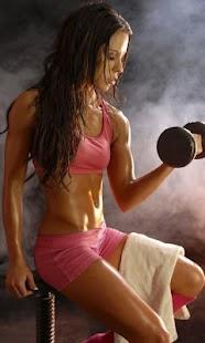 Fitness con mancuernas