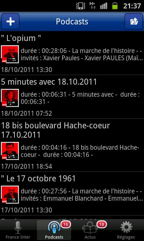 FRANCE INTER - screenshot