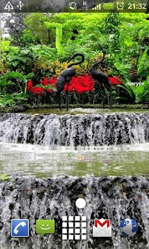 Garden Fountain Live Wallpaper