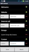 Screenshot of Contact Editor Pro