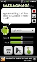 Screenshot of Talkadroid Lite