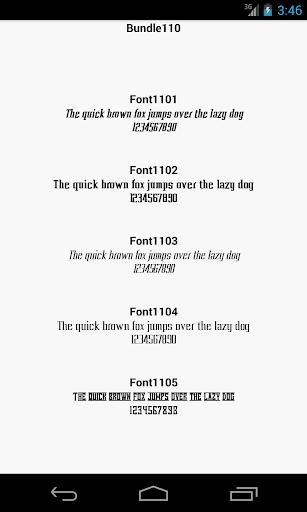 Fonts for FlipFont 110