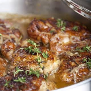 Braised Chicken Thighs.