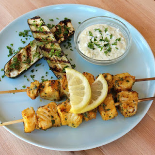 Marinated Fish Skewers.