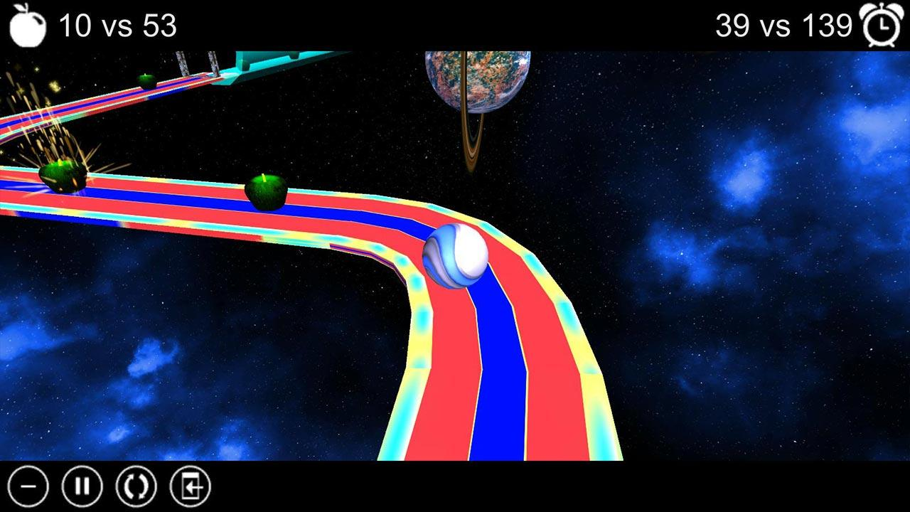 Apple Run 3D Space - screenshot