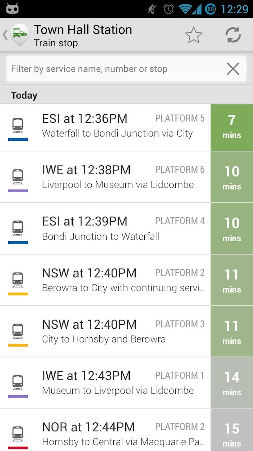 TripGo: transit directions - screenshot
