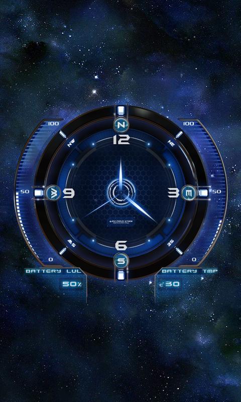 Space Clock HD Live Wallpaper Screenshot