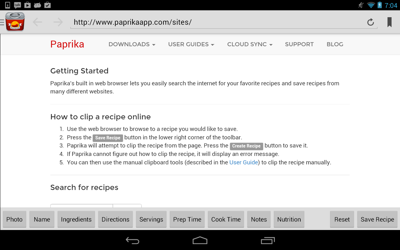Paprika Recipe Manager- screenshot