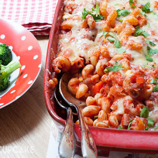 Family Filling Ham and Vegetable Pasta Bake (with Go Compare) Recipe