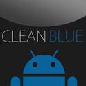 GO SMS Clean Blue Theme icon