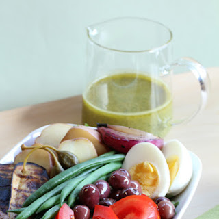 Niçoise Salad with Grilled Vegetables and Basil-Mustard Vinaigrette