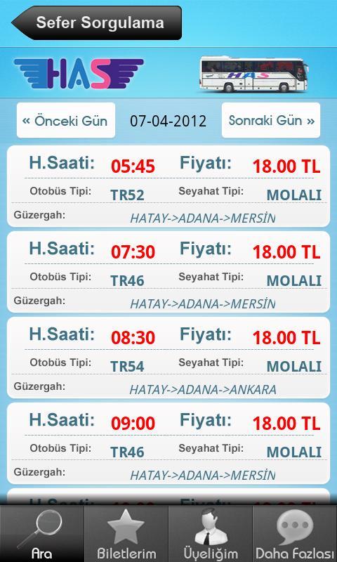 Has Turizm- ekran görüntüsü