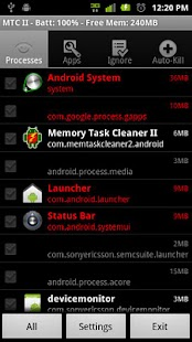 Memory Task Cleaner II- screenshot thumbnail