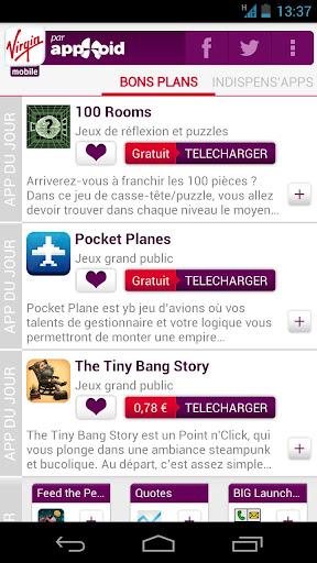 indispens'apps Virgin Mobile