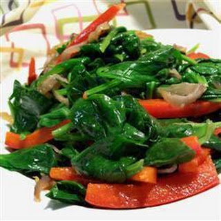 Spinach and Pepper Saute Recipe