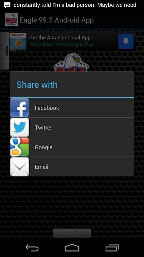 Eagle 99.3 Android App - screenshot