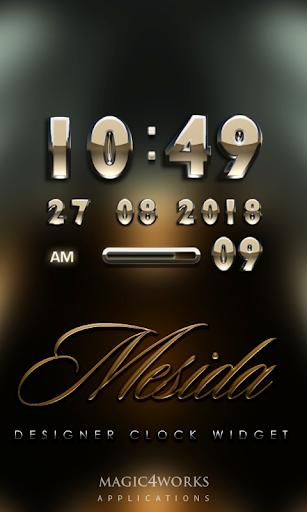 Mesida Digital Clock Widget